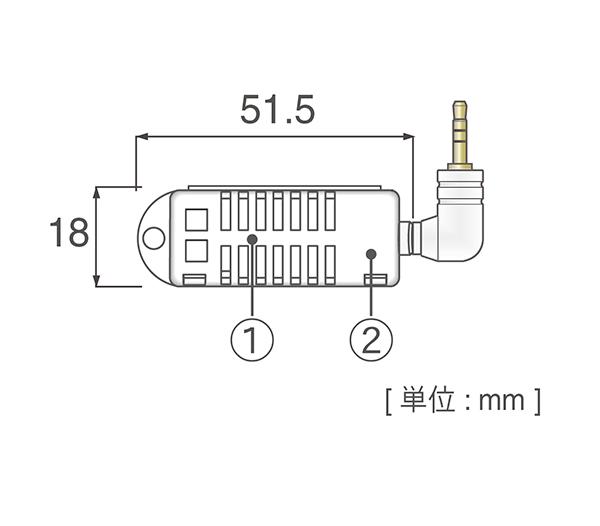おんどとり オプション 温湿度センサ THA-3001