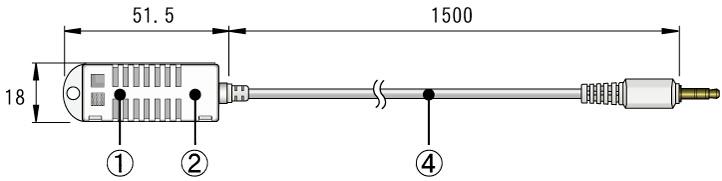 おんどとり オプション 温湿度センサ THA-3151