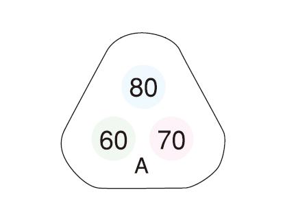 サーモカラーセンサー H60A (3点式・60-70-80℃)