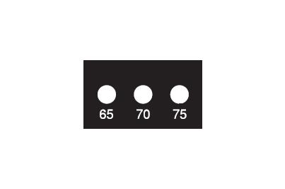 サーモラベル スーパーミニ3K-80 (3点式・80-90℃)