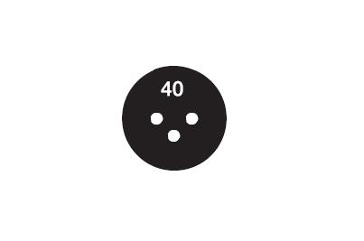 サーモラベル スーパーミニ3R-40 (3点式・40-50℃)