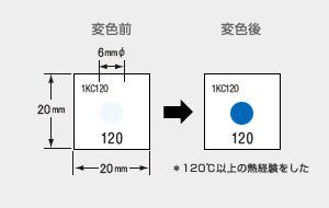 サーモカラーセンサー 1KC120 (1点式・変色温度120℃)