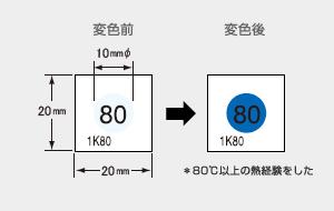 サーモカラーセンサー 1K55 (1点式・変色温度55℃)