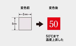 サーモラベル ミニ No.50 (1点式・変色温度50℃)