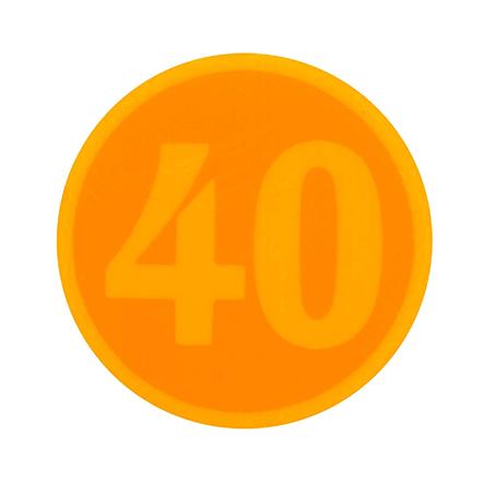数字サーモワッペン WR-60 (可逆・1点式・変色温度60℃)