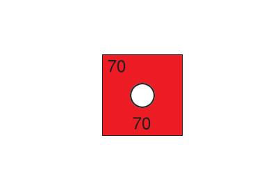 組合せサーモラベル O-80(可逆・不可逆・2点式・80℃)