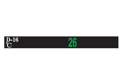 デジタルサーモテープ D-38 (11点式・38~58℃)