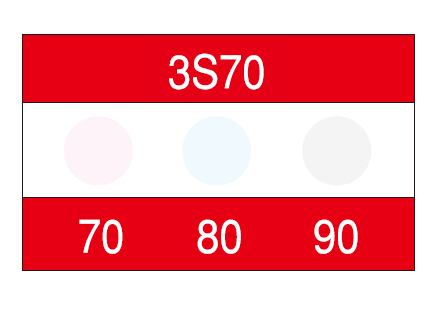 サーモカラーセンサー 3S50 (3点式・50-60-70℃)