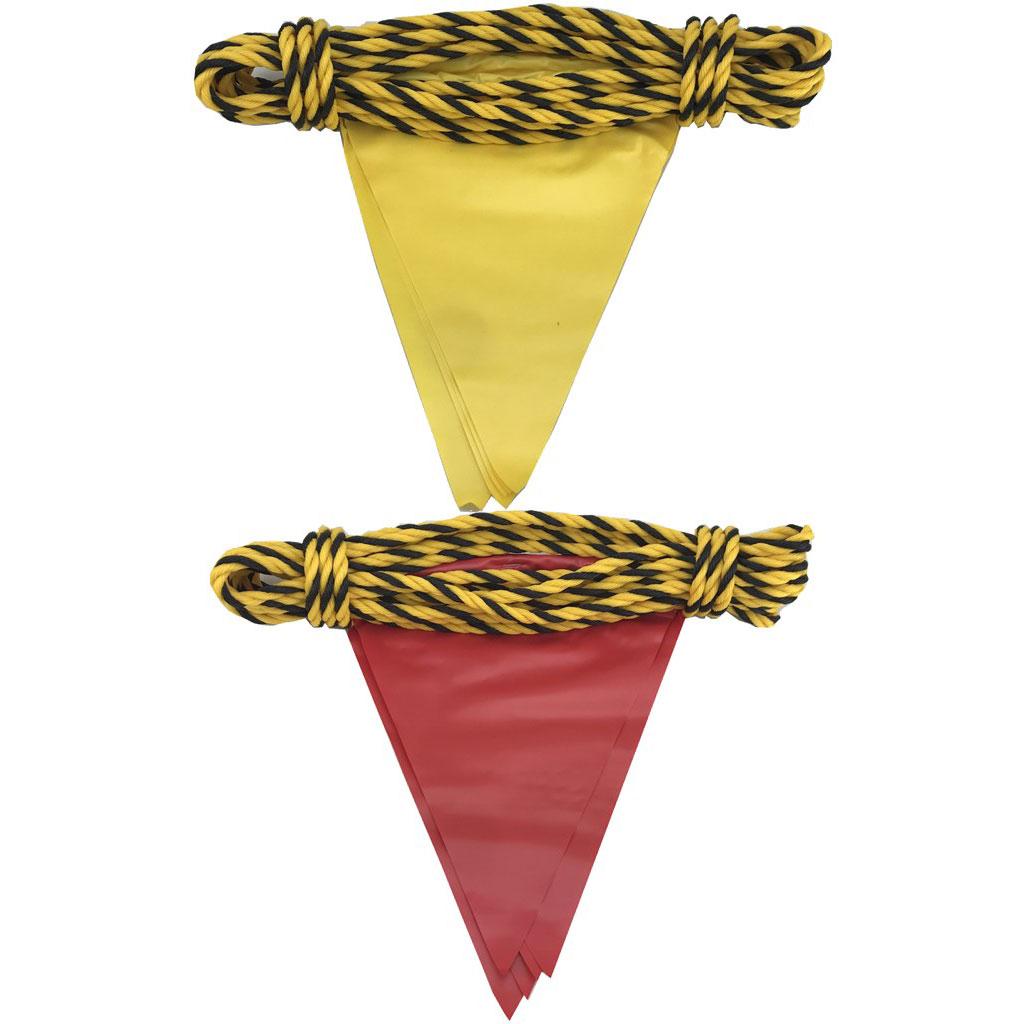 安全表示旗付き標識ロープ(10m・5枚)