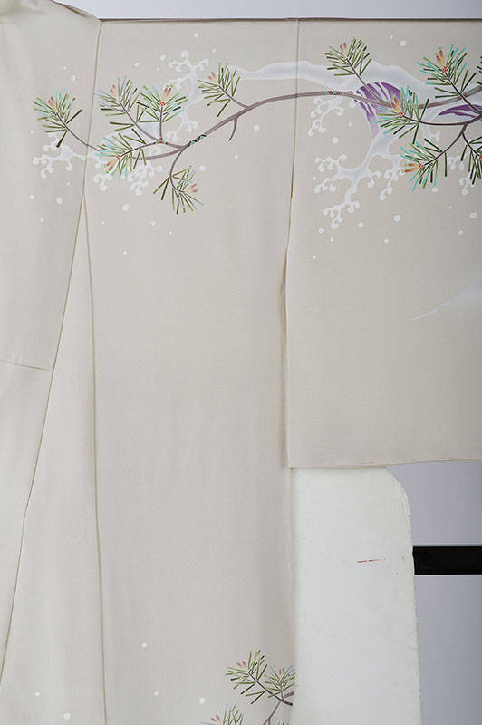 本加賀友禅訪問着 本間哲哉 作 「白浪に松」柄