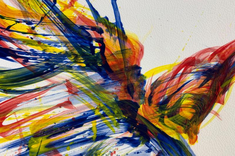直筆陶墨画「陽光之翼(ようこうのつばさ)」