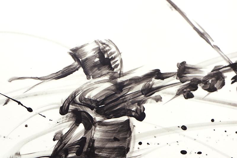 直筆陶墨画「国士純然(こくしじゅんぜん)」