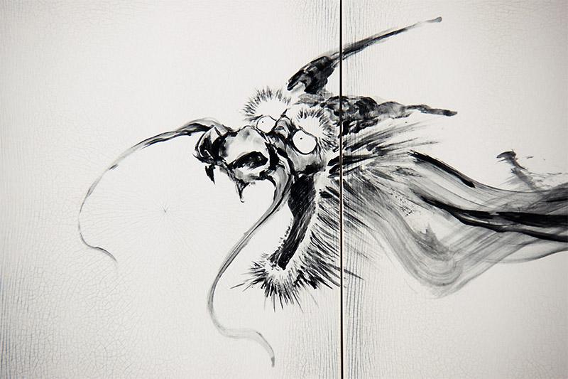 直筆陶墨画「盤遊之風(ばんゆうのかぜ)」