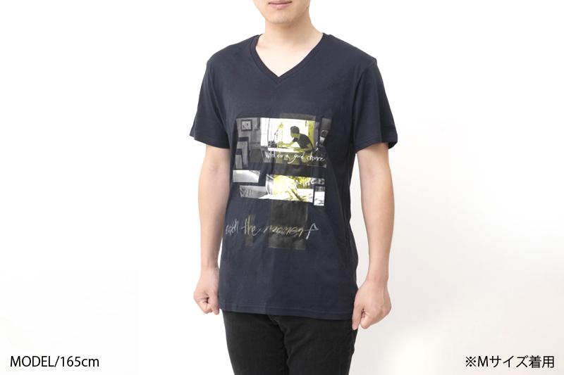 photoTシャツA(ネイビー)