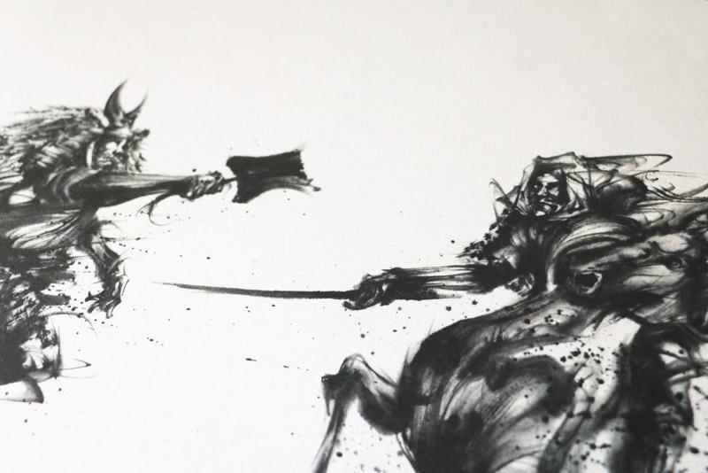 色紙絵 川中島の戦い