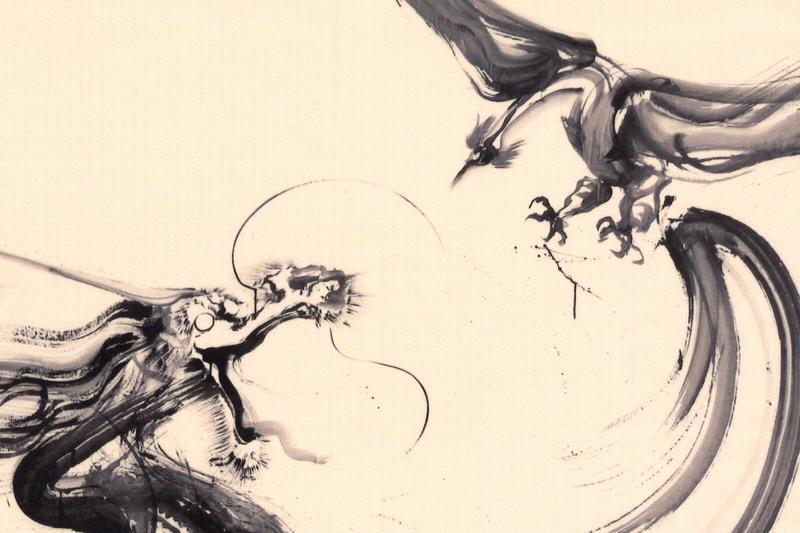 ハンカチ 鳳凰と麒麟