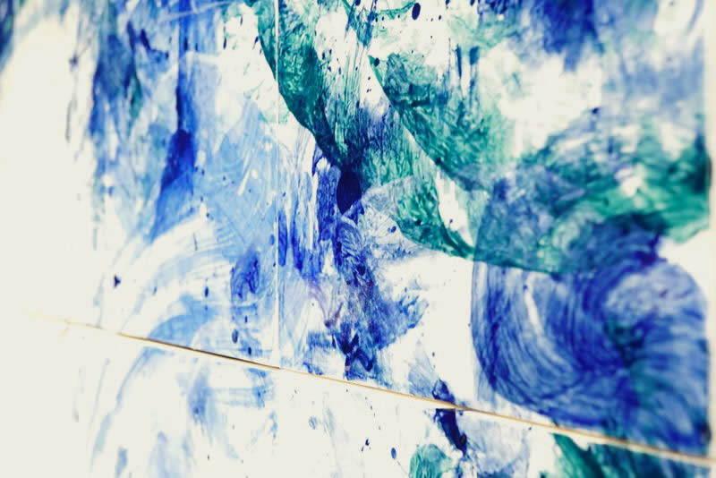 直筆陶墨画「碧水破天(へきすいはてん)」