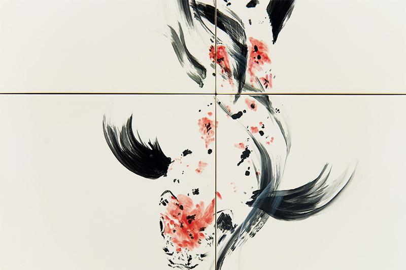 直筆陶墨画「華泉礎観(かせんそがん)」