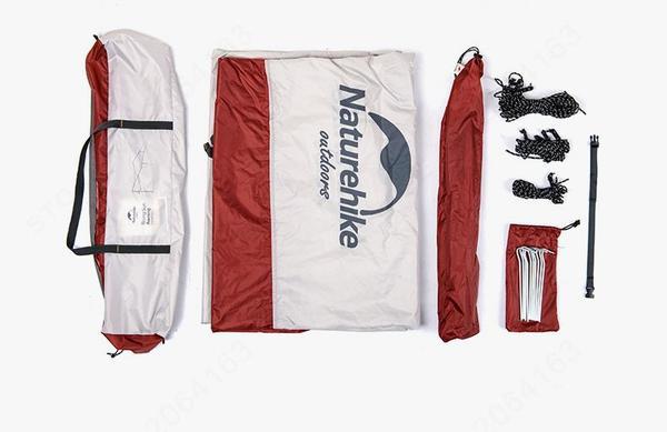【NatureHike】ポール付 UPF40 (L) ヘキサゴンタープ520x460cm 防水タープ  耐水圧:約3000(mm) 太陽シェルター 屋外キャンプシート アウトドア 【2色】<br>グランドシート  雨具 ハイキング