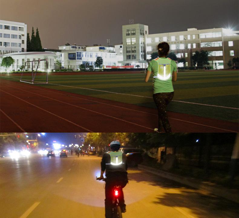 (送料無料)【AONIJIE】(4色) 反射板付 高通気性素材を採用した反射ランニングベスト  安全ベスト 夜間/夕方のランニング/ジョギング、ウォーキング、自転車、バイクにお勧め。 ナイトラン 超軽量 E884
