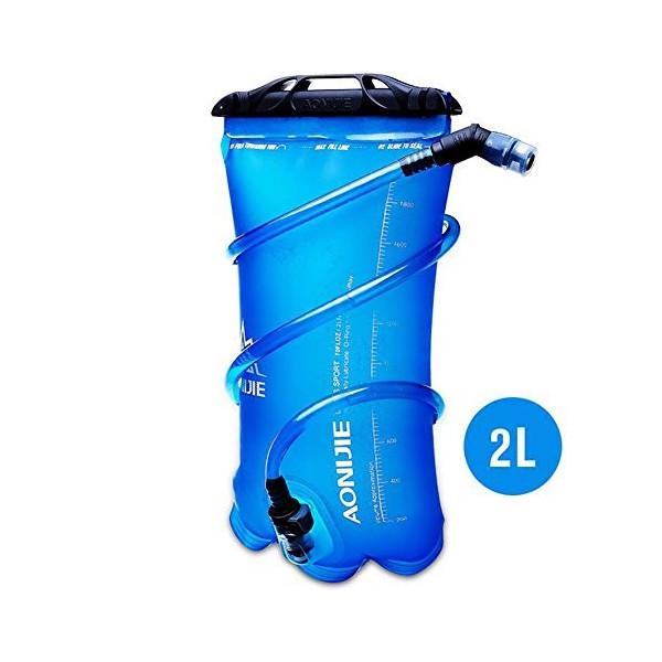 (送料無料)【AONIJIE】 2L ハイドレーション 水分補給 無臭 ウォーターバッグ ウォーターキャリー 折りたたみ給水袋 サイクリング 登山 ランニング 災害 防災