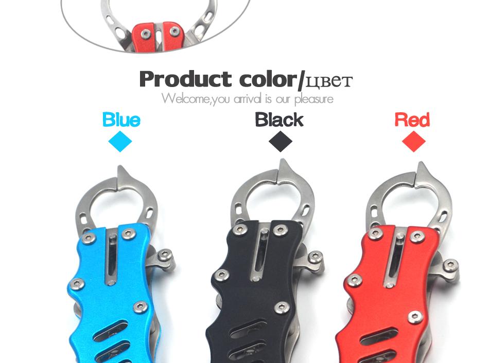 【3色】 ステンレス製 つかみやすい 小型フィッシュグリップ フィッシュキャッチャー 魚つかみ 釣具 魚掴み