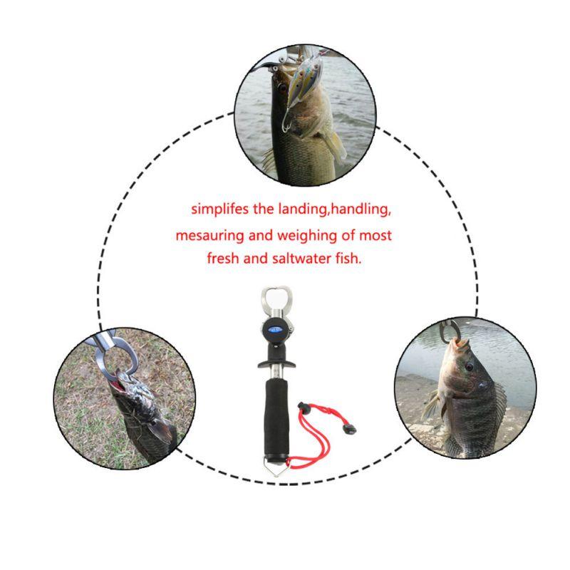 最大15kgまで計量機能付き フィッシュグリップ スケール キャッチャー フィッシュグリップメジャー  プライヤー  ステンレス製  魚掴み器 釣り具 魚釣り