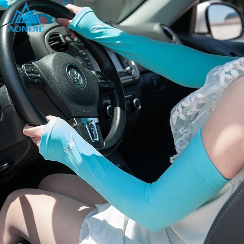 【AONIJIE】 (2枚入)アームスリーブ UPF50+で紫外線の90%をカット アームカバー アームウォーマー  紫外線対策 冷感 涼感 UVカット 日焼け防止 男女兼用 E4036
