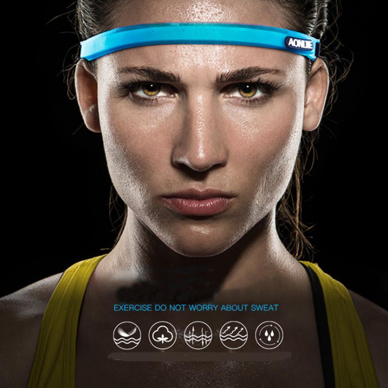 【AONIJIE】 【4色】 汗が目に入らないヘッドバンド スウェットバンド スウェットガーター  シリコン素材  サイクリング/ヨガ/ランニング/スポーツ/アウトドア/ジョギング/マラソン E4088