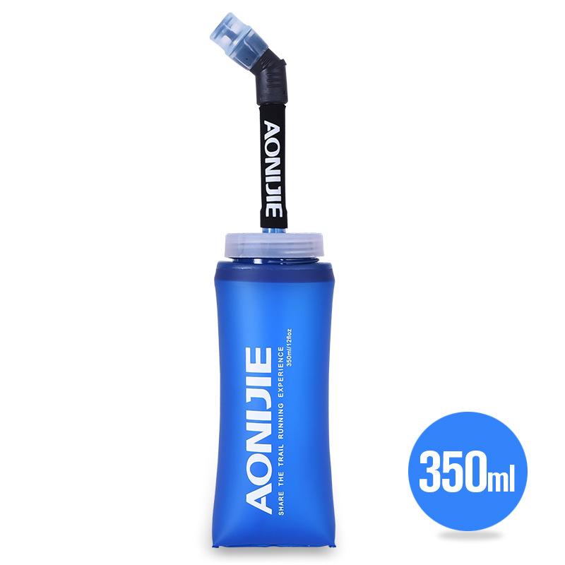 (送料無料)【AONIJIE】折りたためる 350ML ハイドレーション ソフトウォーターボトル ウォーターキャリー 水分補給 無臭 ウォーターバッグ 折りたたみ給水袋 サイクリング 登山 ランニング 災害 防災