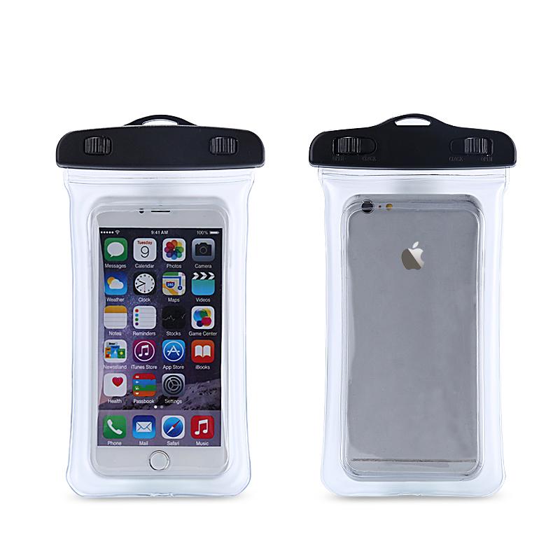 【IPx8取得】 6インチまで対応 (5色) フローティング防水ケース iPhoneX/8/7/6/Plus android 水中撮影 海水浴 潜水 お風呂 水泳 携帯防水ケース