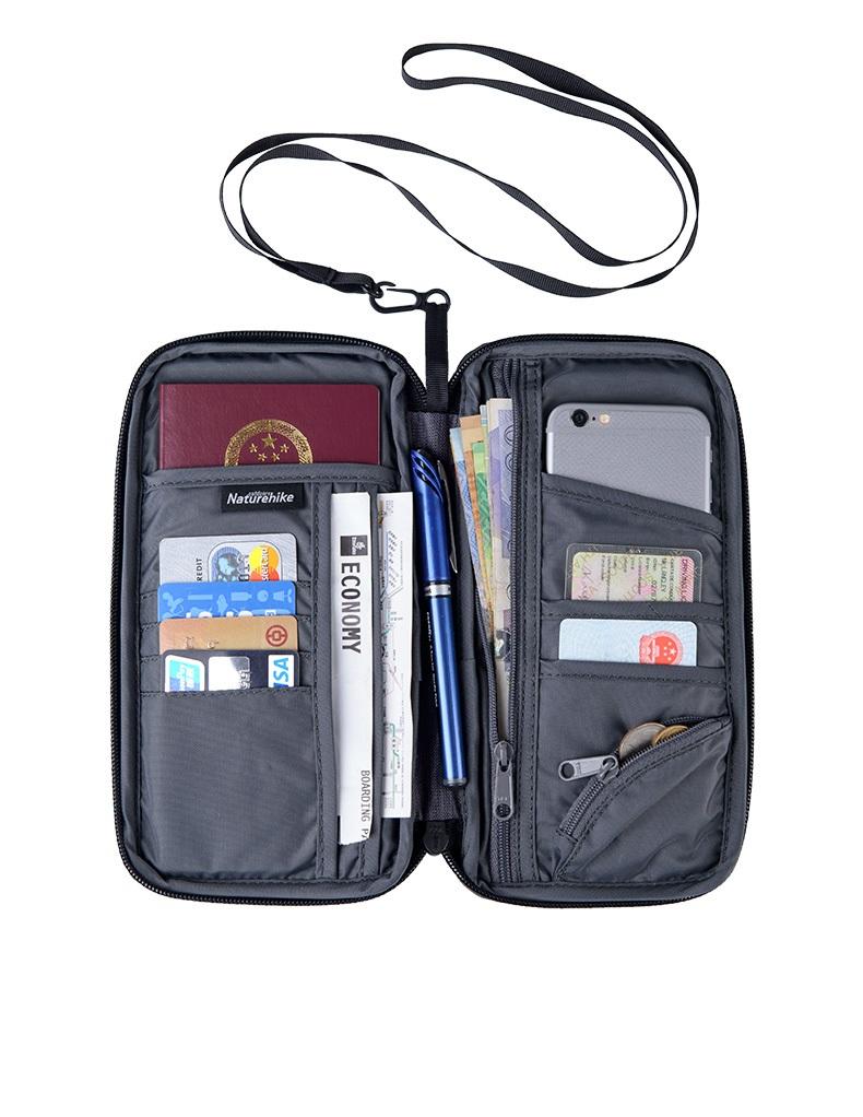 スキミング防止スリーブ付【Naturehike】軽量 ネックストラップ付 パスポートケース 22.5x12cm インナーケース【3色】パスポートカバー