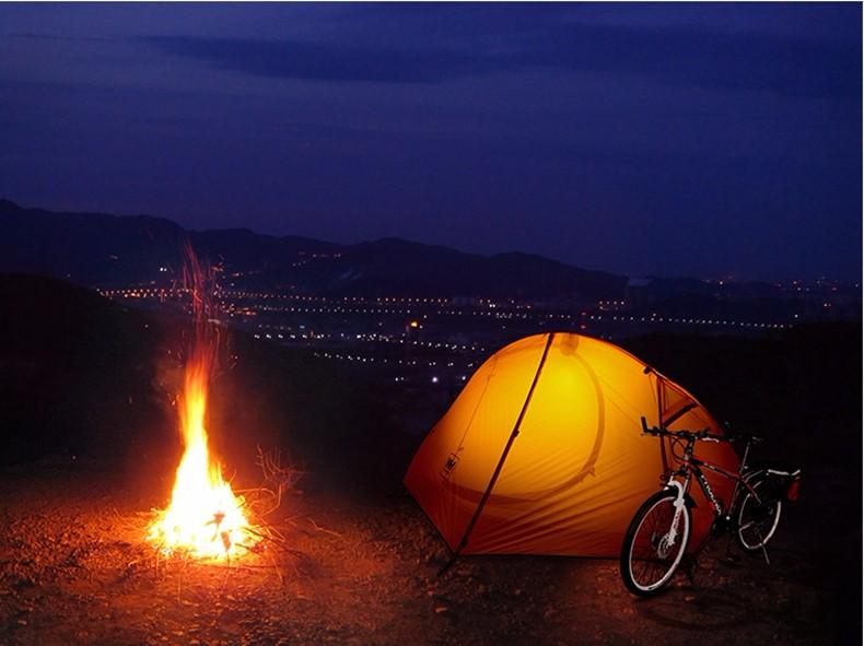 【NatureHike】【ブルー/レッド】1人用テント 耐水圧:3000mm 超軽量 ダブルウォールテントキャンプテント ダブルレイヤー 紫外線防止 ハイキング