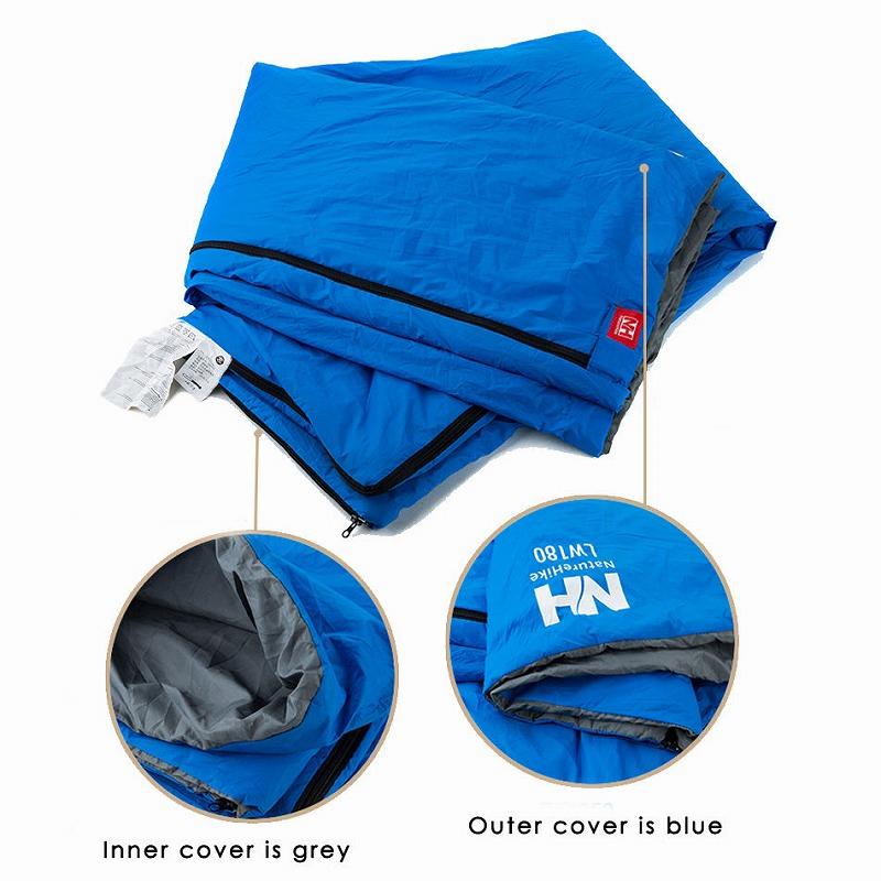 【Naturehike】インナーでも フリース素材の寝袋 ジョイント式 215x75cm 超軽量 封筒型寝袋【4色】シュラフ キャンプ アウトドア  登山 ハイキング ひざ掛け 毛布 マット
