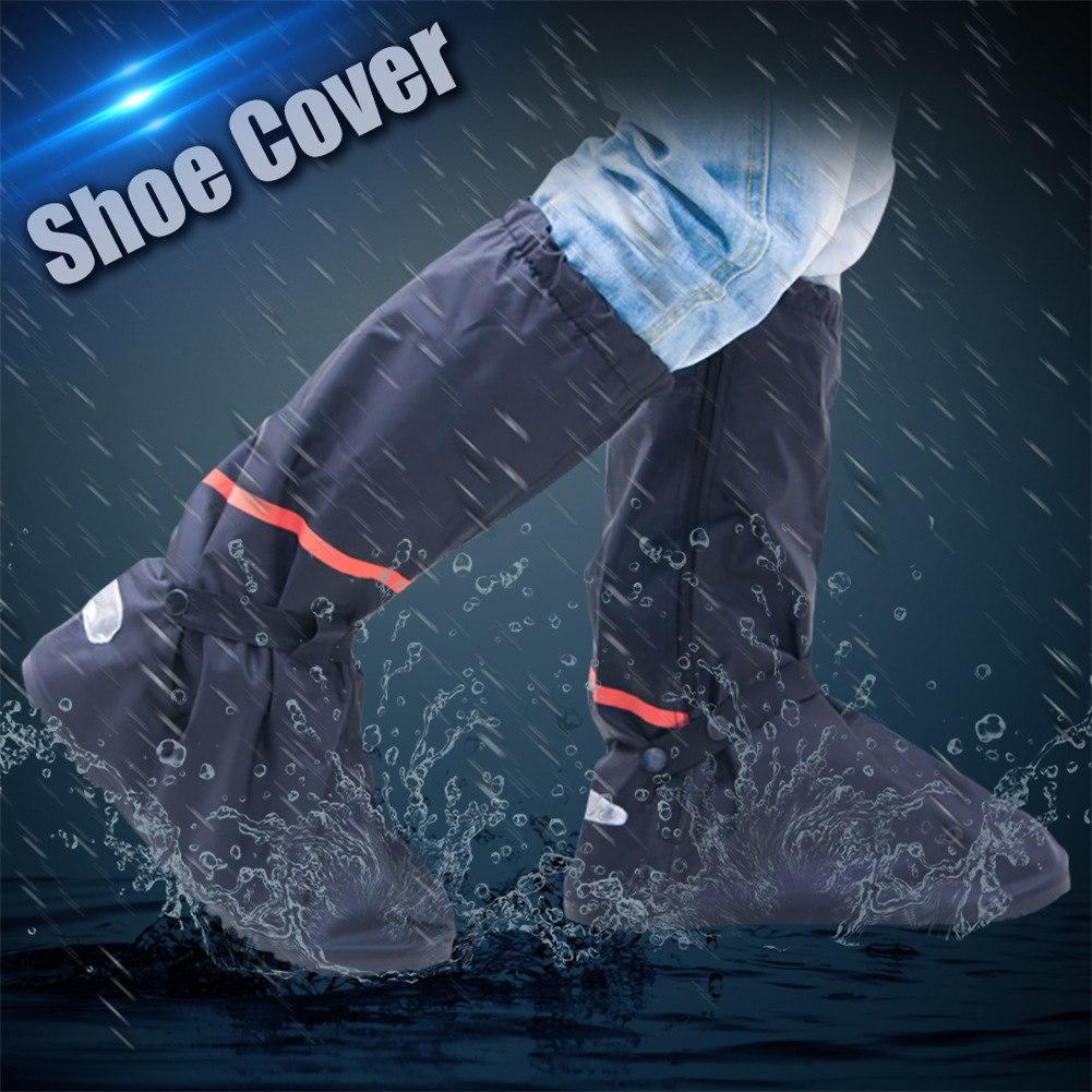 【専用ケース付】(S/M/L/XL) 反射板付 防水レインシューズ カバー レインブーツ メンズ レディース アウトドア レジャー