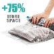 【送料無料】掃除機不要の巻いて押すだけの手軽な衣類圧縮袋 「10枚セット/3サイズ」コンパクトに収納
