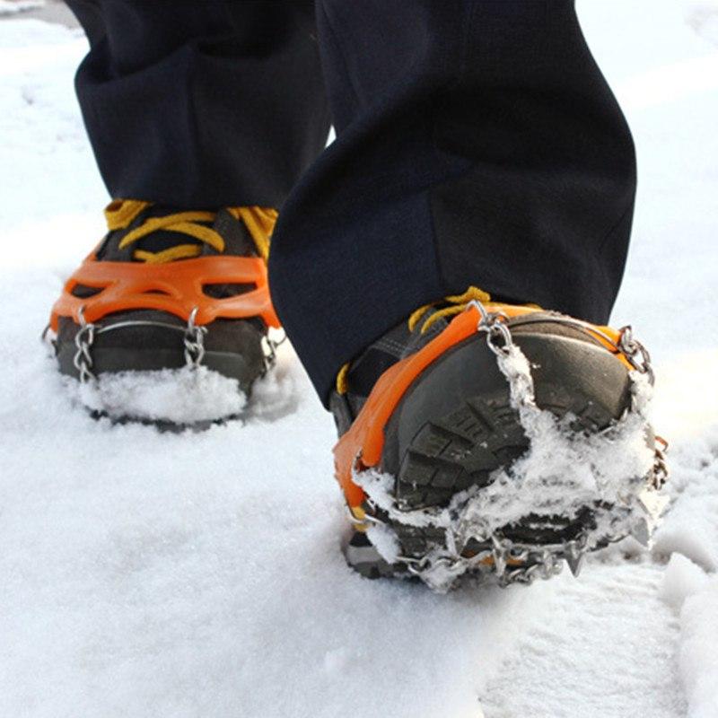 【専用ケース付】Mサイズ 簡単装着! 軽量アイスグリッパー スノースパイク  8個の金属製爪で路面を確実に! グリップのスタッドが、地面をしっかりグリップ