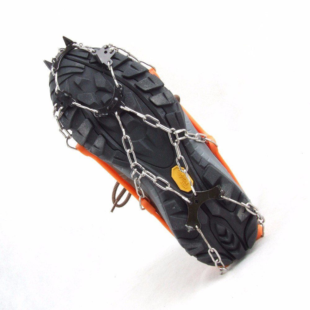 【専用ケース付】Lサイズ 簡単装着! 軽量アイスグリッパー スノースパイク  8個の金属製爪で路面を確実に! グリップのスタッドが、地面をしっかりグリップ