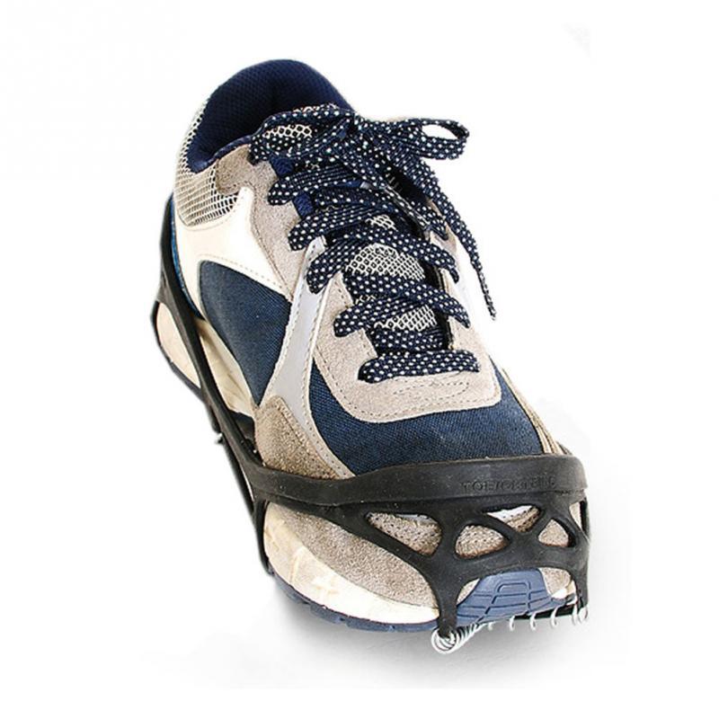 【専用ケース付】スプリングアイゼン 軽量アイスグリッパー 靴底スパイク スノーシュー 靴底用 靴速カバー 装着式