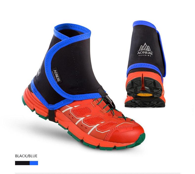 【AONIJIE】(3色)トレイルゲイター ショートゲイター シューズカバー トレッキング ショートスパッツ ゲイター トレイルランニング