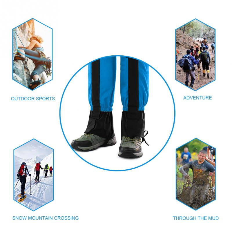 【4色】 登山ゲイター ロングスパッツ レッグカバー ブーツカバー トレッキング 防汚 防水 撥水 トレッキング装備 トレイル ゲーター