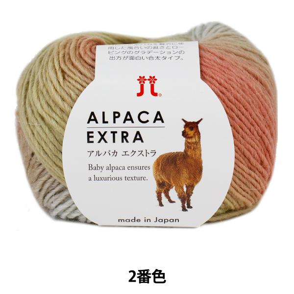 秋冬毛糸 『ALPACA EXTRA (アルパカエクストラ) 002番色』 Hamanaka ハマナカ