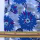 【数量5から】 生地 『高島帆布 フラワー グレー×ブルー 99086-1B』