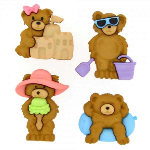 ボタン 『チルドボタン Summer Bears』 Dress It Up