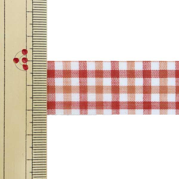 【数量5から】 リボン 『キャンディチェック 1445 幅約2.2cm 35番色』 AOYAMARIBBON 青山リボン