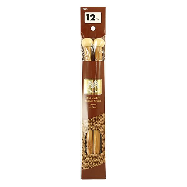 編み針 『硬質竹編針 玉付ミニ 2本針 23cm 12mm』 mansell マンセル【ユザワヤ限定商品】