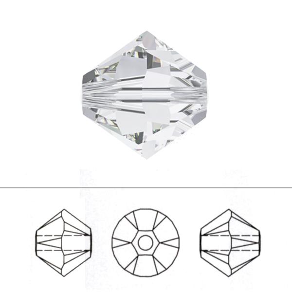 スワロフスキー 『#5328 XILION Bead ライトトパーズ 3mm 30粒』 SWAROVSKI スワロフスキー社