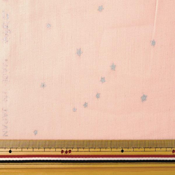 【数量5から】 生地 『Wガーゼ 星柄 パウダーピンク KTS6430-P』 COTTON KOBAYASHI コットンこばやし 小林繊維