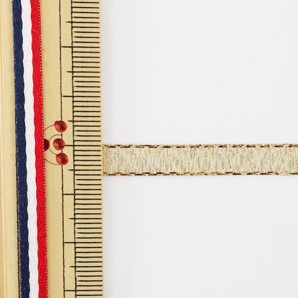 【数量5から】 リボン 『クイーンメタル 6mm幅 1番色 ゴールド』