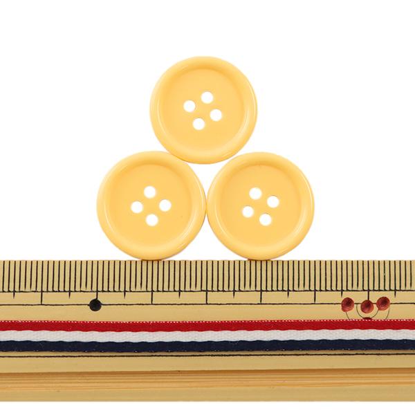 ボタン 『四つ穴ボタン 20mm 3個入り 黄色 PYTD10-20』